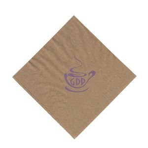 "The 500 Line Kraft 2-Ply Beverage Napkins (5""x5"")"